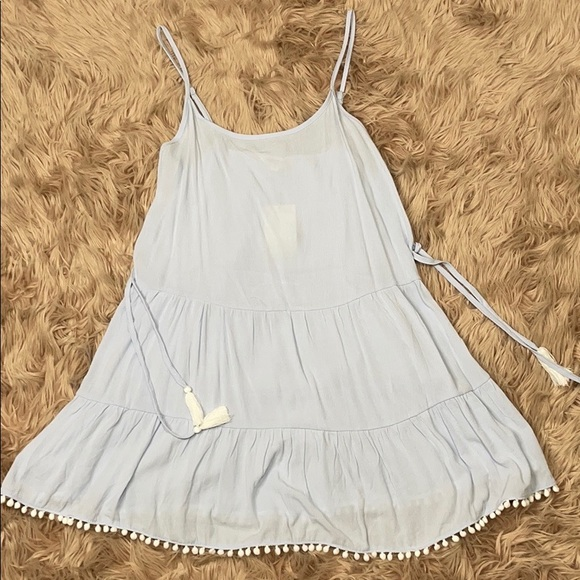 NWT Miken Swim Swimsuit Cover Up Dress Tunic Light Gray Size S